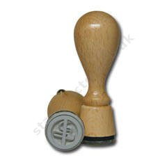 Wooden stamps round d-20 mm