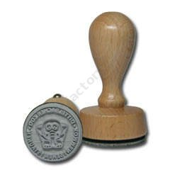 Wooden stamp round d-30 mm GEO