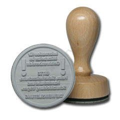 Wooden stamp round d-50 mm